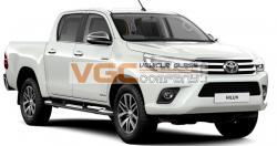 TOYOTA HiLUX 2016-on DOUBLE CAB RIGHT REAR PRIVACY WINDOW