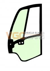 JCB JZ140 DOOR GLASS LEFT FULL GREEN
