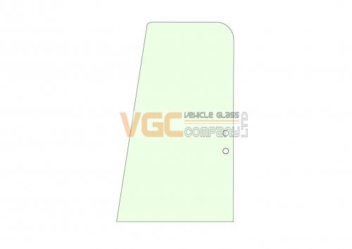 CASE CX130B DOOR REAR SLIDER GREEN
