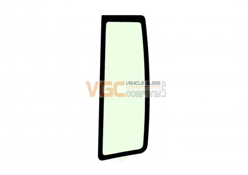 CATERPILLAR 300 C SERIES  REAR QUARTER GLASS LEFT GREEN