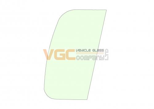 DOOSAN DX340LC-3 DOOR FRONT FIXED  Green - Holes
