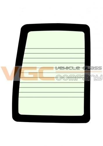 IVECO DAILY 99-ON  MWB Fixed Window Backlight Left Heated Green