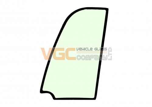JCB 8016 DOOR UPPER GLASS  GREEN