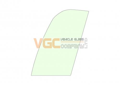 JCB 8018 FRONT FIXED GLASS RIGHT GREEN
