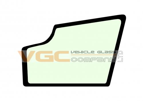 JCB 8020 DOOR LOWER GLASS GREEN