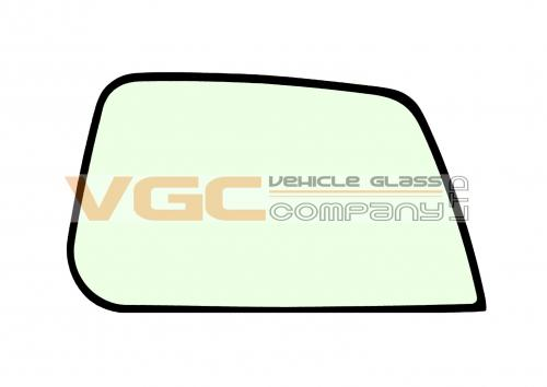 JCB JS EUROCAB  FRONT QUARTER GLASS UPPER RIGHT  GREEN