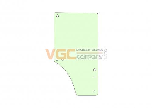 JOHN DEERE 6820 DOOR GLASS LEFT Green