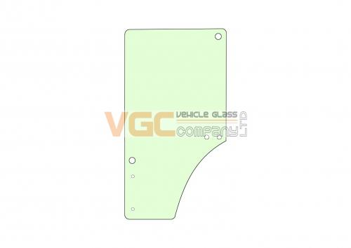 JOHN DEERE 6820 DOOR GLASS RIGHT Green