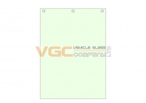 NEW HOLLAND E145 FRONT SCREEN UPPER GREEN